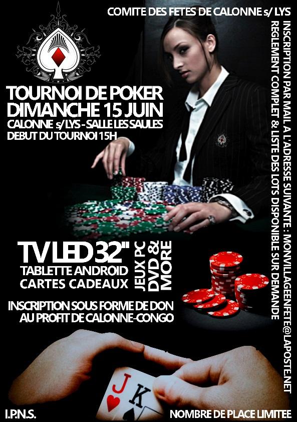TOURNOI DE POKER / DIMANCHE 15 JUIN / CALONNE SUR LA LYS (62) 1_couleur